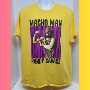 Other - Macho Man Randy Savage Wrestling Yellow Shirt XL